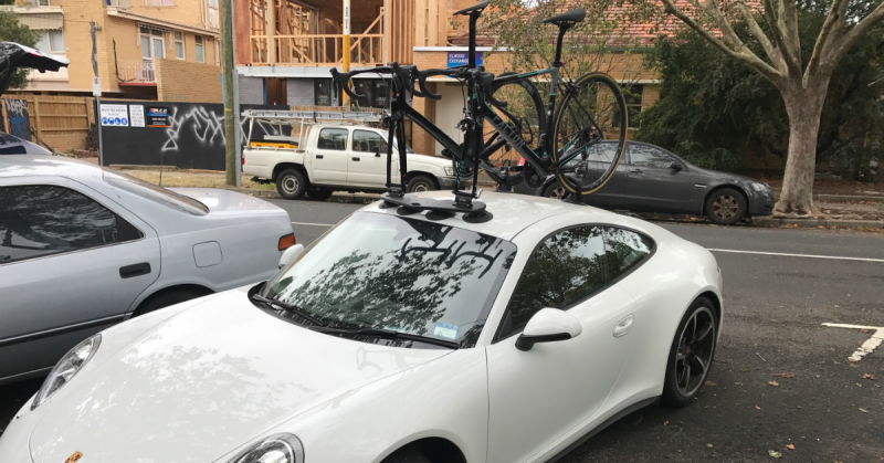 Porsche Carrera 4S Bike Rack
