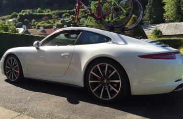 2014 Porsche 911 with full glass roof and SeaSucker Mini Bomber