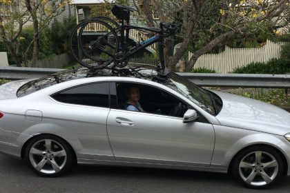 Mercedes Benz C250 Bike Rack - SeaSucker Mini Bomber