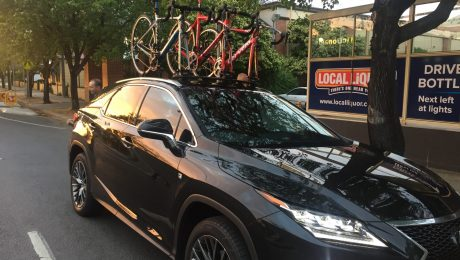 Lexus RX350 and the SeaSucker Bomber 3 bike rack