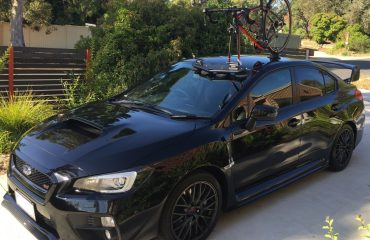 Subaru WRX STI with SeaSucker Mini Bomber