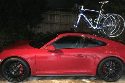Porsche 911 GTS Bike Rack - The SeaSucker Mini Bomber