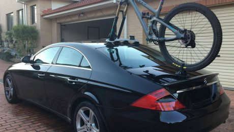 Mercedes CLS500 Bike Rack - The SeaSucker Mini Bomber
