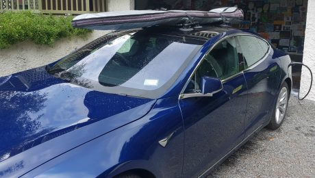 Tesla Model S Surfboard Rack - The SeaSucker Board Rack