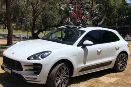 Porsche Cayenne Bike Rack - The SeaSucker Mini Bomber 2-Bike Rack
