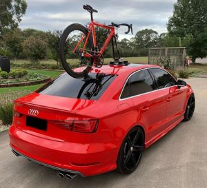 Audi S3 with a SeaSucker Talon mounted on the roof